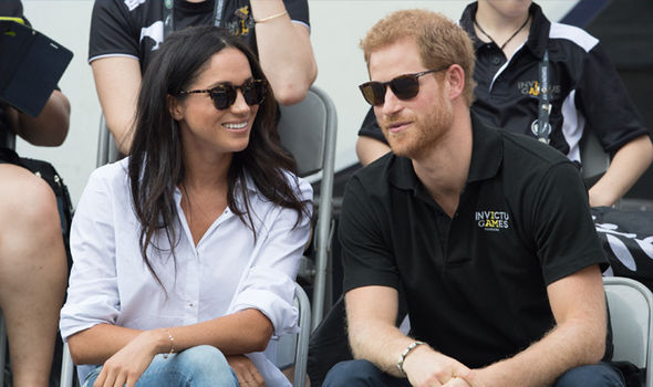 The couple struggled to keep their hands off each other at the Invictus Games in Toronto last week Photo (C) GETTY