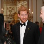 The royal look engaged as he spent time speaking to guests at the glitzy black tie affair