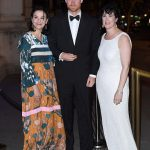 The royal mingled with high profile guests including Amanda Pullinger right and Sonia Gardener left