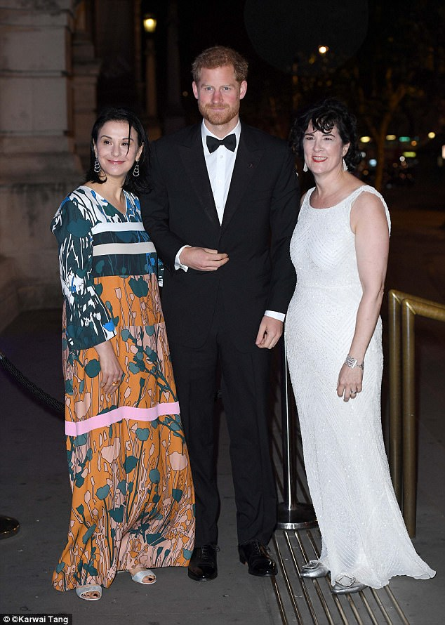 The royal mingled with high profile guests including Amanda Pullinger (right) and Sonia Gardener (left)