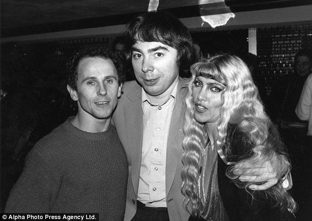 With Andrew Lloyd Webber and LyWith Andrew Lloyd Webber and Lynsey de Paulnsey de Paul