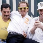 With Freddie Mercury and Elton John at the Live Aid concert 1985