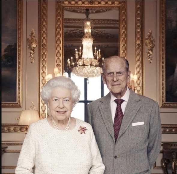 Queen Elizabeth II and her husband, the Duke of Edinburgh at Windsor Castle. Picture Photo (C) GETTY