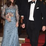 1 Kate and Will looked elegant and happy as they descended the red carpet at the Royal Palladium in London
