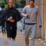 1 Prince Harry is seen leaving his gym in Chelsea west London after a workout with his royal protection officer this afternoon