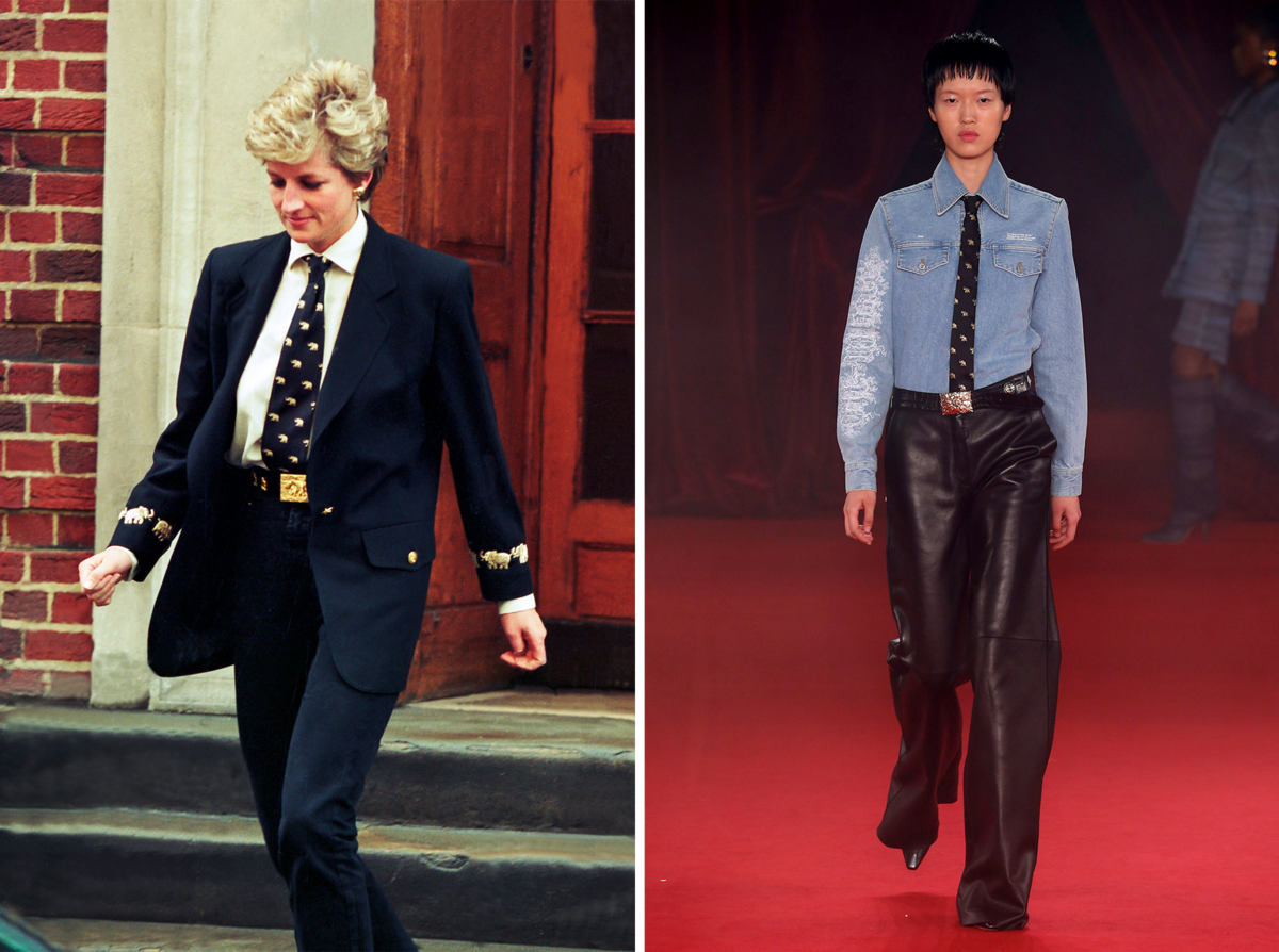 The Princess Diana Moments That Inspired Virgil Abloh's Latest Off-White Collection Photo (C) GETTY IMAGES