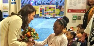 Catherine Duchess of Cambridge: A big thank you to Hornsey Road Children's Centre for a wonderful visit! Photo (C) TWITTER KENSINGTON PALACE