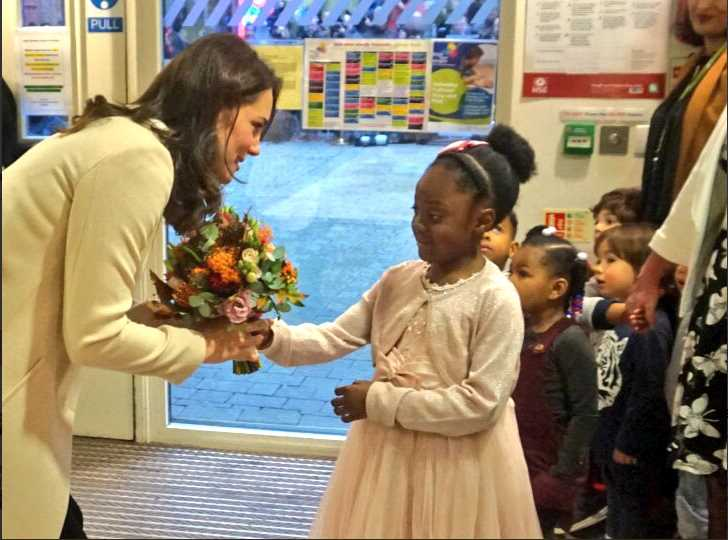 A big thank you to Hornsey Road Children's Centre for a wonderful visit! Photo (C) TWITTER KENSINGTON PALACE