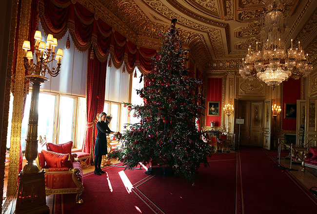Another tree has been placed in the Crimson Drawing Room Photo (C) GETTY