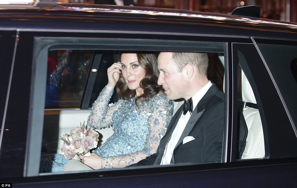 At the end of the night Kate tucked a strand of hair behind her ear she relaxed in the back seat of the car with Will after the show