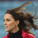 BLOWN AWAY A gust of wind swept Kate hair up into a wild frenzy
