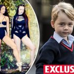CAN YOU SEE IT Prince George has apparently been spotted on a dancers kneecap Photo C RACHEL PETRICCA