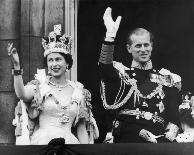 CORONATION The Queen ascended the throne at the age of 25 in 1953 Photo (C) GETTY