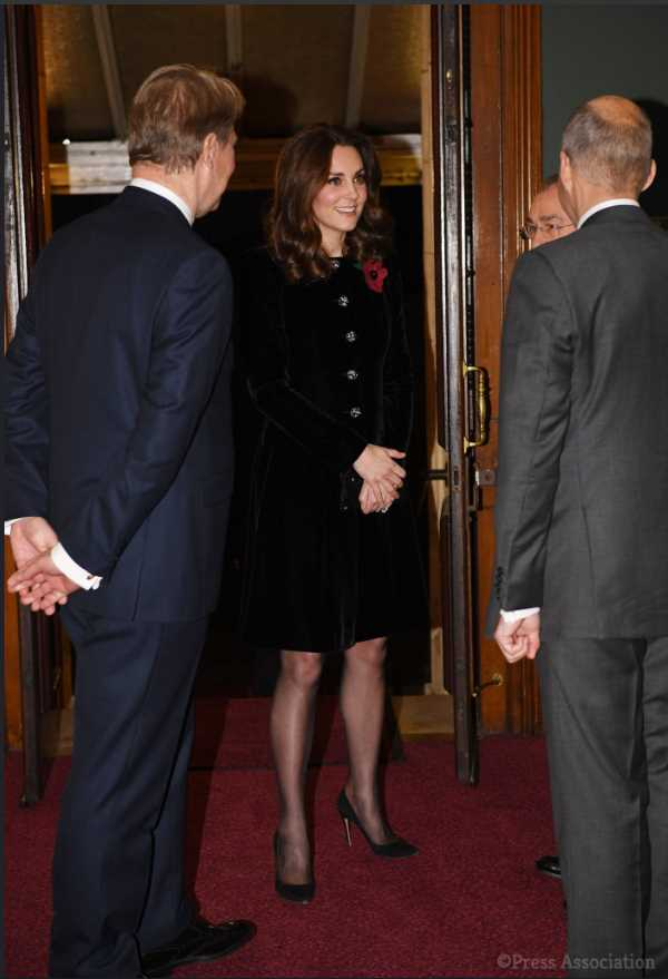 Kate went to the event along with other members of the royal family including Queen Elizabeth and Prince Philip Prince Charles and the Duchess of Cornwall and Prince Andrew