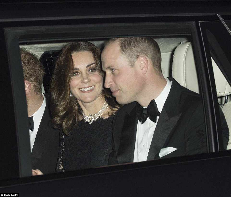 Conditions being a little snug, it was not long before Kate shed her winter coat revealing an elegant black lace dress