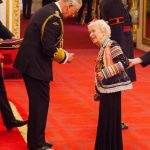Dame June Whitfield from Kingston Upon Thames is made a Dame Commander of the British Empire by the Prince of Wales at Buckingham Palace PA