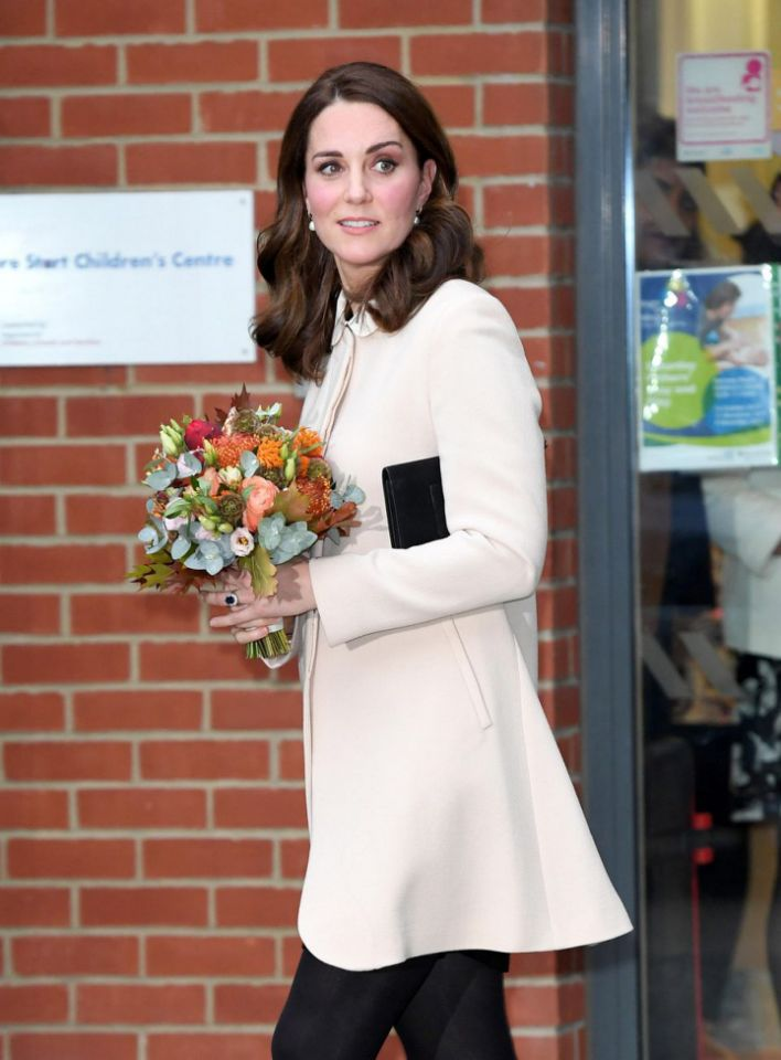 Despite the scandal, Kate was seen making an appearance at Hornsey Road Children's Centre. Photo Getty