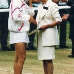 Duchess of Kent and Jana Novotna Photo C AP