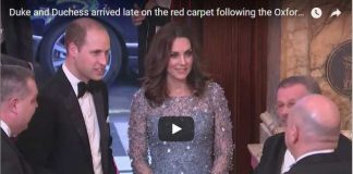 Duke and Duchess arrived late on the red carpet following the Oxford Circus incident