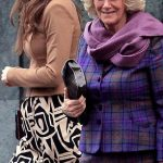 Future Queens Kate Middleton and Camilla together. Kate in a Diane Von Furstenberg dress is mastering the art of simple chic