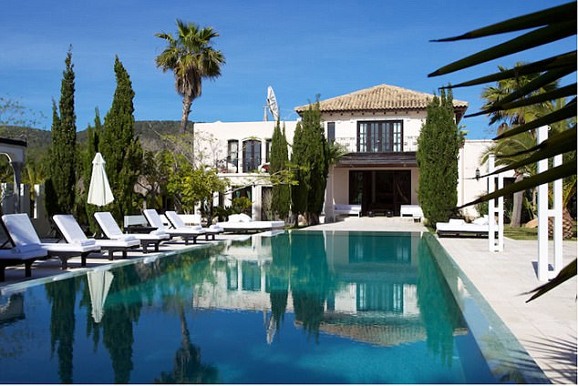 Gary Goldsmith is renting out his villa in Ibiza near Cala Jonda