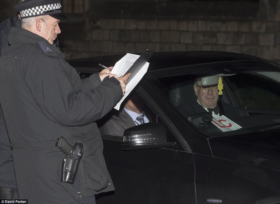 Guests were subjected to tight security measures upon arrival at the castle with police men checking names and ID