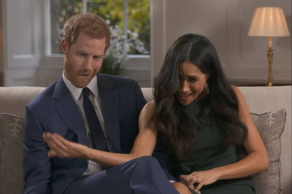 Harry and Meghan's engagement excitement can be revealed in a series of candid and funny shots not shown to the millions who watched in Britain and later around the world