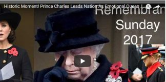 Historic Moment! Prince Charles Leads Nation As Emotional Queen Looks On - Remembrance Sunday 2017