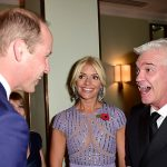 Holly and Phil enjoyed a chat with Prince William Photo C GETTY