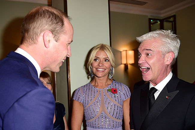 Holly and Phil enjoyed a chat with Prince William Photo (C) GETTY