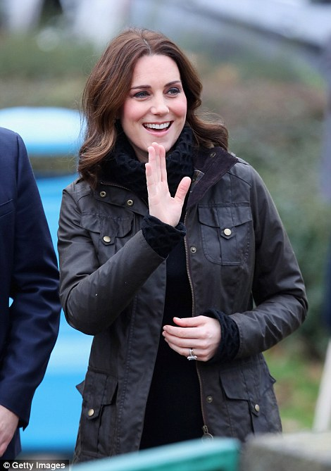 Kate, 35, was in high spirits as she arrived for a day outdoors. Her visit to the school today comes after she spent yesterday at a museum and art gallery