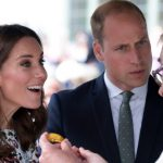 Kate Catherine Duchess of Cambridge and William are shown a piece of amber by a local craftsman during a visit Photo C GETTY 1