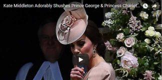 Kate Middleton Adorably Shushes Prince George Princess Charlotte During Pippas Wedding