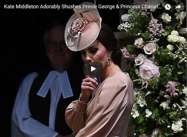 Kate Middleton Adorably Shushes Prince George Princess Charlotte During Pippas Wedding
