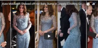 Kate Middleton Showed off Her Baby Bump in Jewels Glittering Gown at Royal Variety Performance
