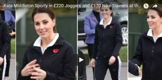 Kate Middleton Sporty in £220 Joggers and £170 Nike Trainers at the National Tennis Centre