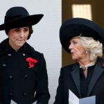 Kate Middleton and Camilla Parker Bowles both wore three poppies in 2016 for Remembrance Sunday Getty