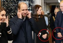 Kate Middleton and Prince William appeared to mirror each other's body language in Birmingham Photo (C) GETTY