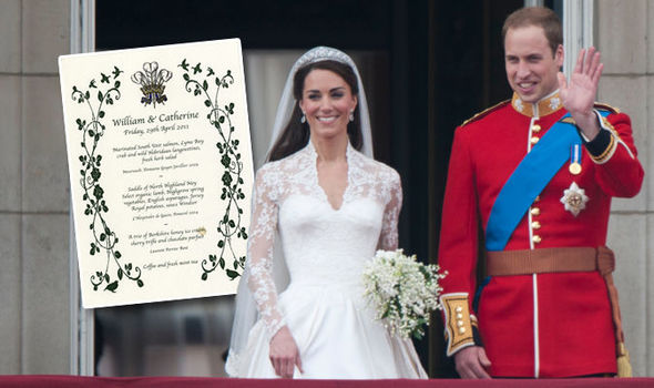 Kate Middleton and Prince William wedding The couple served an unusual food to guests Photo (C) WENN, GETTY IMAGES