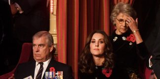 Kate Middleton joined Queen Elizabeth and Prince Philip on Saturday evening for the Festival of Remembrance Photo (C) STEFAN ROUSSEAU/PA WIRE/AP
