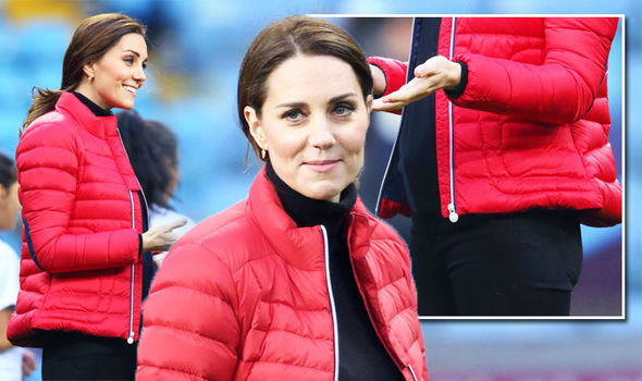 Kate Middleton latest pregnant baby news Duchess shows bump for first time Photo (C) GETTY