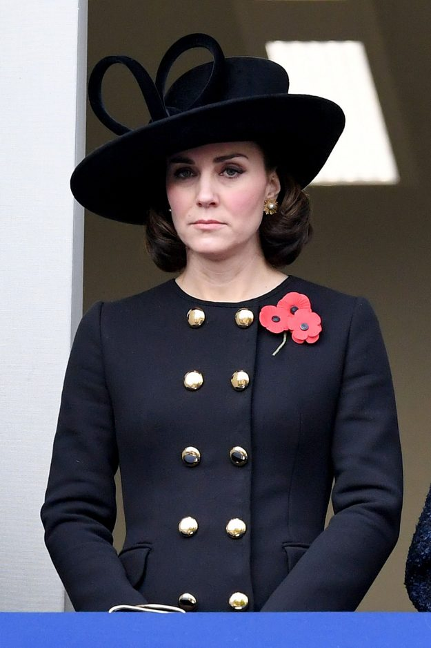 Kate Middleton stood by the Queen on Remembrance Sunday [Getty]