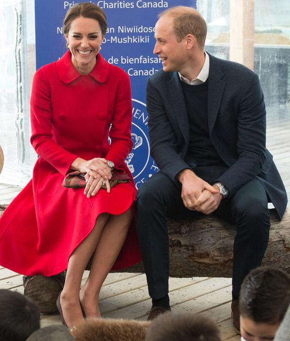 Kate Middleton, the Duchess of Cambridge, may close her legs when sitting, but William opts not to Photo (C) GETTY IMAGES