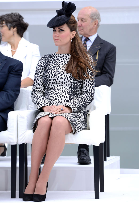 Kate Middleton, the Duchess of Cambridge, may find sitting this way more comfortable when pregnant Photo (C) GETTY