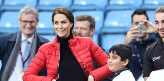 Kate Middleton was pictured pulling funyn faces yesterday. Photo Getty Images