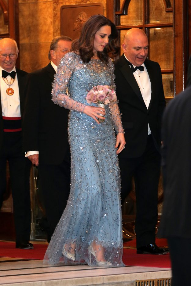Kate Middleton attended the Royal Variety Performance with husband Prince William PA