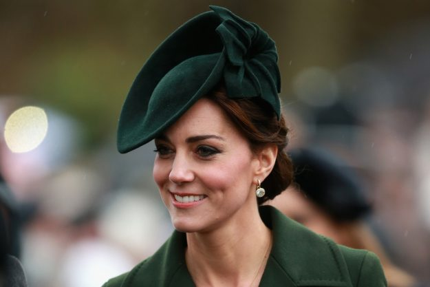 Kate Middleton's beauty look throughout her third pregnancy has been very different from her usual style. Just take a look at the 2015 snap of the Duchess sporting thick black liner [Getty]