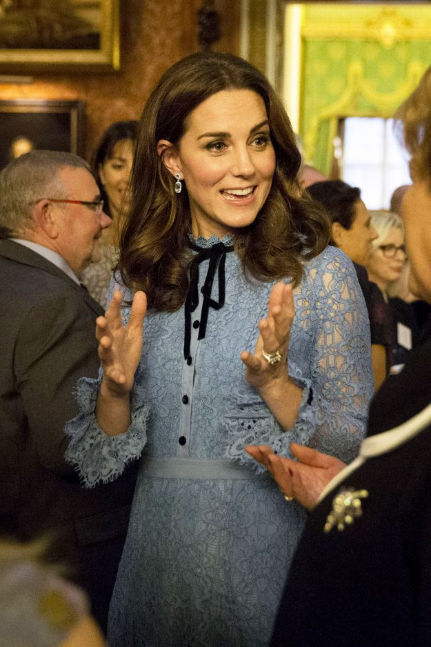 Pregnant Kate Middleton changed her beauty look up since announcing her third pregnancy but nobody spotted the makeup switch up as the Duchesss baby bump stole the show Getty