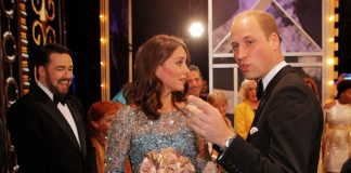 Kate and Will stayed to meet performers after the Royal Variety Show joking and laughing with them