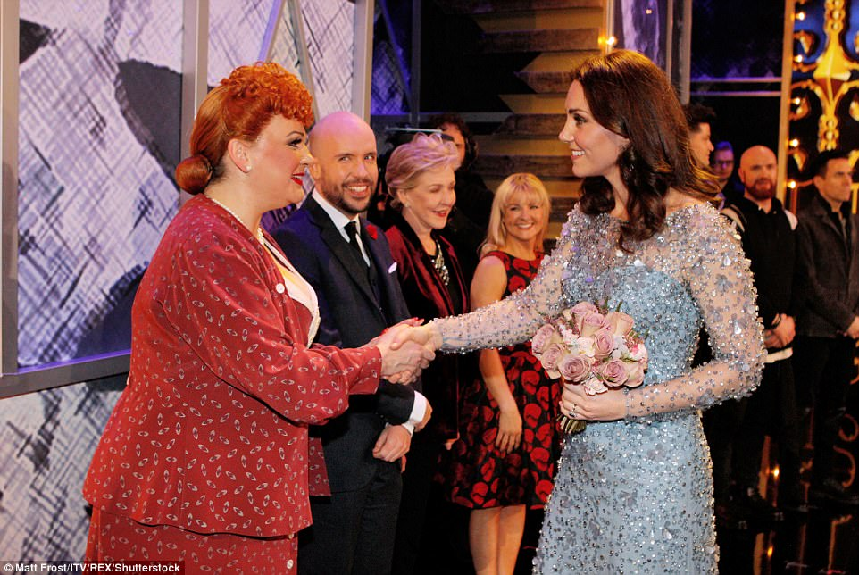 Kate thanked all the performers after the 105th Royal Variety Performance Show at the The London Palladium